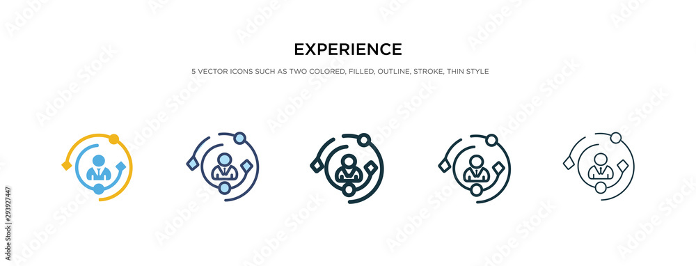 Fototapeta experience icon in different style vector illustration. two colored and black experience vector icons designed in filled, outline, line and stroke style can be used for web, mobile, ui
