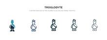 Troglodyte Icon In Different S...