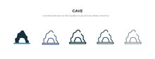Cave Icon In Different Style V...
