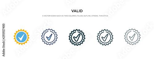 Obraz na plátně valid icon in different style vector illustration
