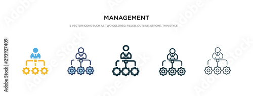 Fotografie, Obraz management icon in different style vector illustration