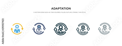 Fototapeta adaptation icon in different style vector illustration