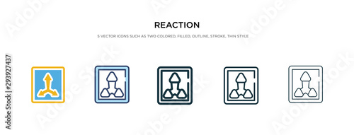 reaction icon in different style vector illustration Wallpaper Mural