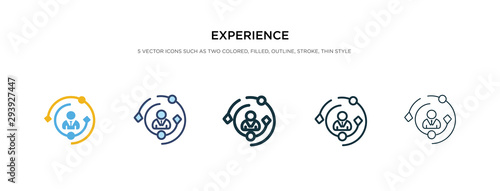 Foto experience icon in different style vector illustration