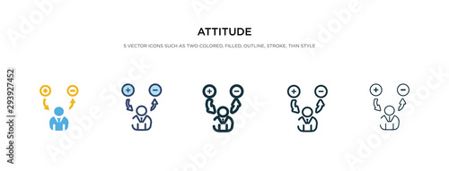 attitude icon in different style vector illustration Canvas Print