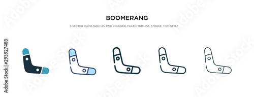 Photo boomerang icon in different style vector illustration