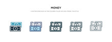 Money Icon In Different Style ...