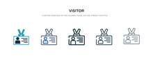 Visitor Icon In Different Styl...