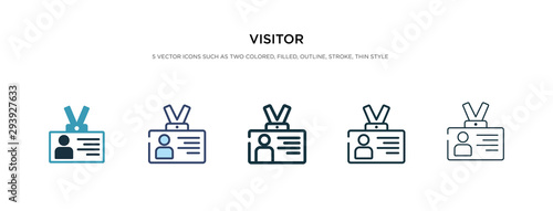Fotografia visitor icon in different style vector illustration