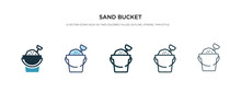 Sand Bucket Icon In Different ...