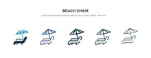 Beach Chair Icon In Different ...