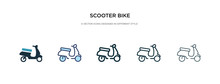 Scooter Bike Icon In Different...