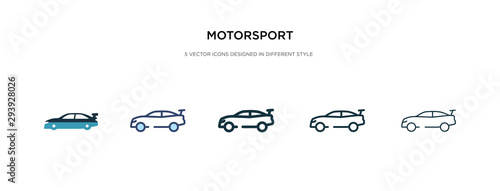 Fotomural motorsport icon in different style vector illustration