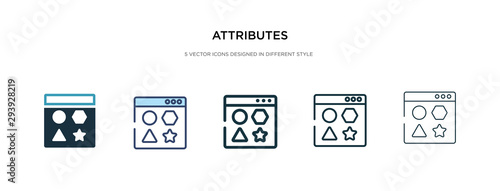 Photo attributes icon in different style vector illustration