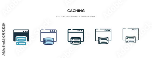 Fotomural  caching icon in different style vector illustration