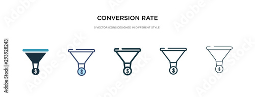 conversion rate optimization icon in different style vector illustration Fototapet