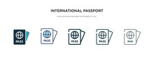 International Passport Icon In...