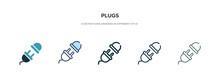Plugs Icon In Different Style ...