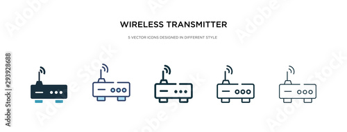 Fotografering wireless transmitter icon in different style vector illustration