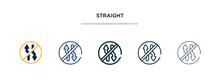 Straight Icon In Different Style Vector Illustration. Two Colored And Black Straight Vector Icons Designed In Filled, Outline, Line And Stroke Style Can Be Used For Web, Mobile, Ui