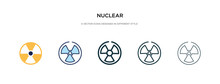 Nuclear Icon In Different Styl...