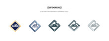 Swimming Icon In Different Sty...