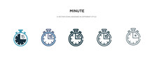 Minute Icon In Different Style...