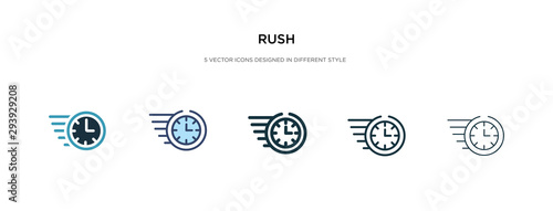 Photo rush icon in different style vector illustration
