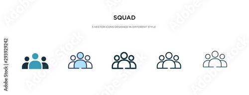 Photo squad icon in different style vector illustration