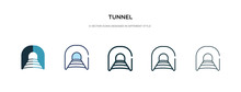 Tunnel Icon In Different Style...