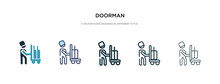 Doorman Icon In Different Styl...