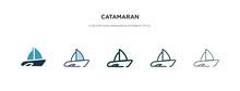 Catamaran Icon In Different St...
