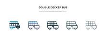 Double Decker Bus Icon In Diff...