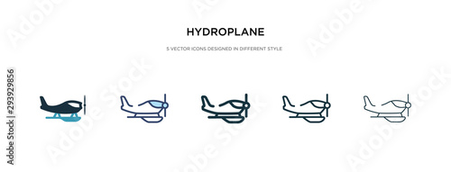 Fototapeta  hydroplane icon in different style vector illustration