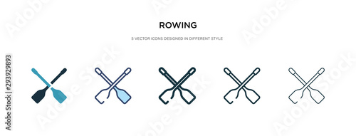 Obraz na plátně rowing icon in different style vector illustration
