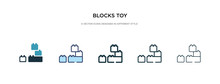 Blocks Toy Icon In Different S...