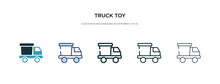 Truck Toy Icon In Different St...