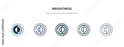 Stampa su Tela brightness icon in different style vector illustration