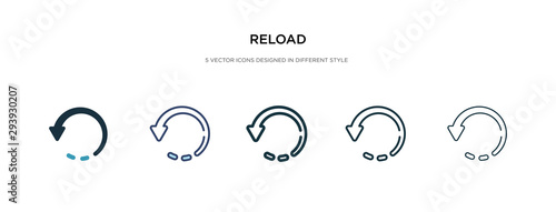 Fototapeta reload icon in different style vector illustration