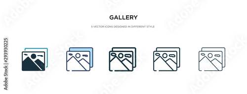 Cuadros en Lienzo gallery icon in different style vector illustration