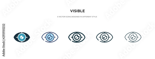 Cuadros en Lienzo visible icon in different style vector illustration