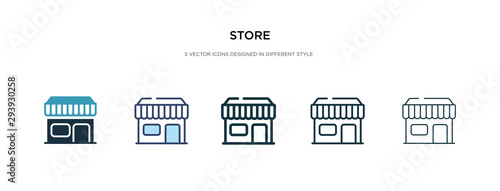 store icon in different style vector illustration Canvas-taulu