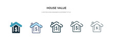 House Value Icon In Different ...