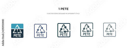 1 pete icon in different style vector illustration Wallpaper Mural