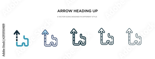 arrow heading up icon in different style vector illustration Canvas Print