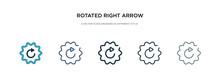 Rotated Right Arrow Icon In Di...