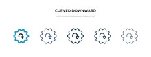 Curved Downward Arrow Icon In ...