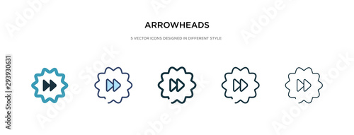 Photo arrowheads icon in different style vector illustration