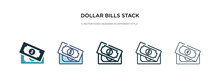 Dollar Bills Stack Icon In Dif...