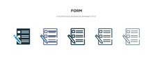 Form Icon In Different Style V...